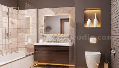 Design d'intérieur de style de salle de bain contemporaine pour la maison par Architectural Animation Services, Nice - France